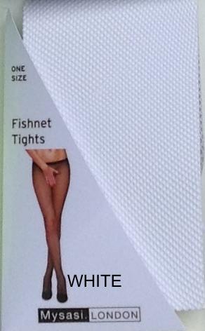 WHITE FISHNET TIGHTS-262317
