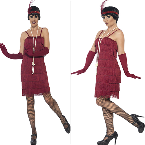 BURGUNDY  DRESS WITH HEAD PIECE AND GLOVES
