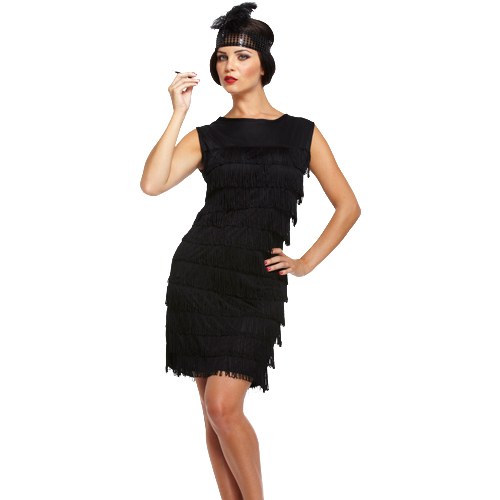 FLAPPER DRESS WITH FEATHERED HEAD BAND